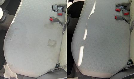 Čištění zadní sedačky auta