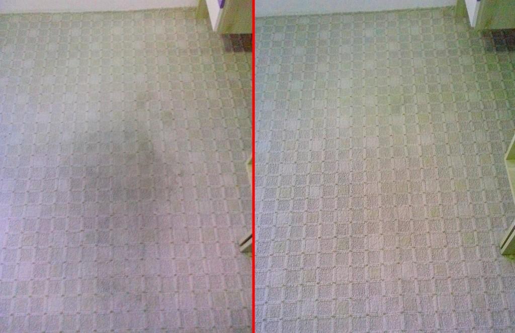 Čištění koberce | Borač - vlevo původní stav, vpravo po vyčištění
